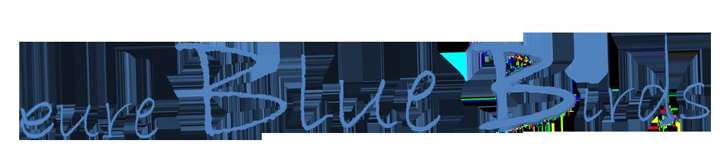 Band und Bahnhof angewinkelt blau