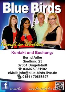 Flyer Blue-Birds Front